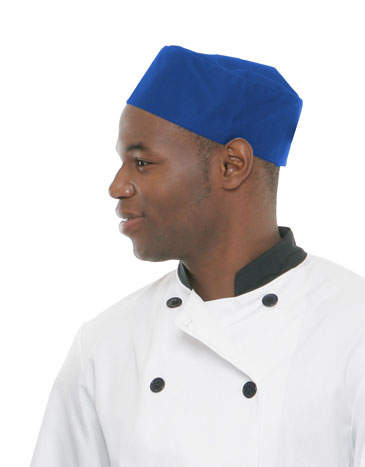 Classic Pillbox Skully Chef Hat<br>New Color(s): Royal Blue & Charcoal